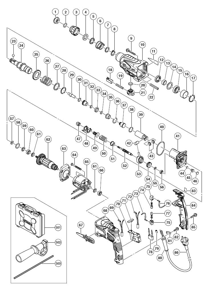 Схема шуруповерт хитачи